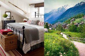 Chambre à coucher inspirée de la Suisse