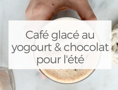 Café glacé au yogourt & chocolat pour l'été