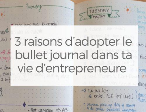 3 raisons d'adopter le bullet journal dans ta vie d'entrepreneure